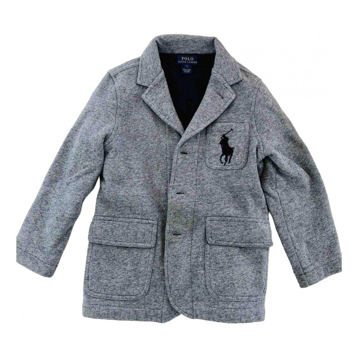 Polo Ralph Lauren - Blousons.Manteaux   pour enfant en coton - gris