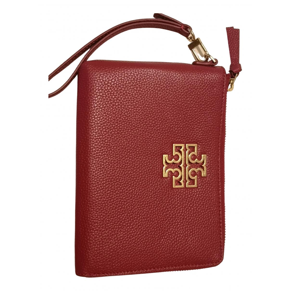 Tory Burch - Pochette   pour femme en cuir - rouge
