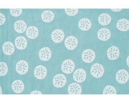 25351E 8 x 10 ft. Sand Dollar Hook Area Rug  in Aqua and