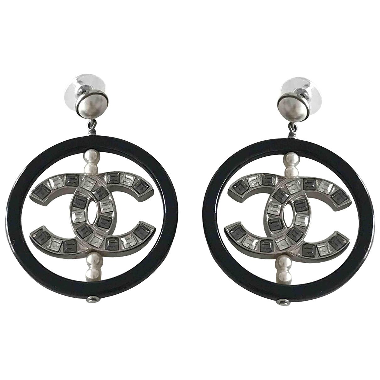 Chanel - Boucles d'oreilles CC pour femme - multicolore
