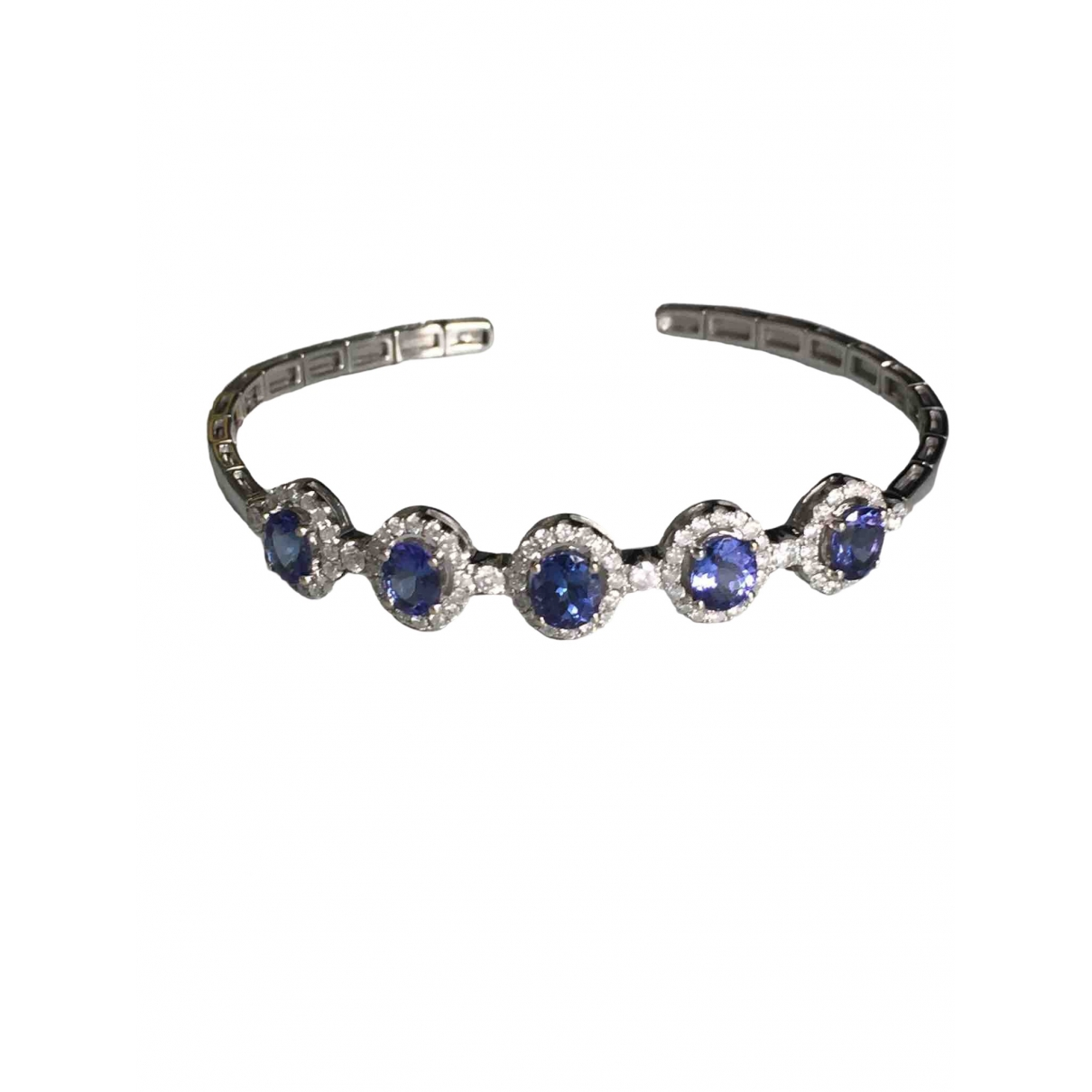 Non Signe / Unsigned \N Armband in  Blau Weissgold