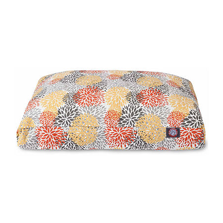 Majestic Pet Citrus Blooms Rectangle Pet Bed, One Size , Yellow