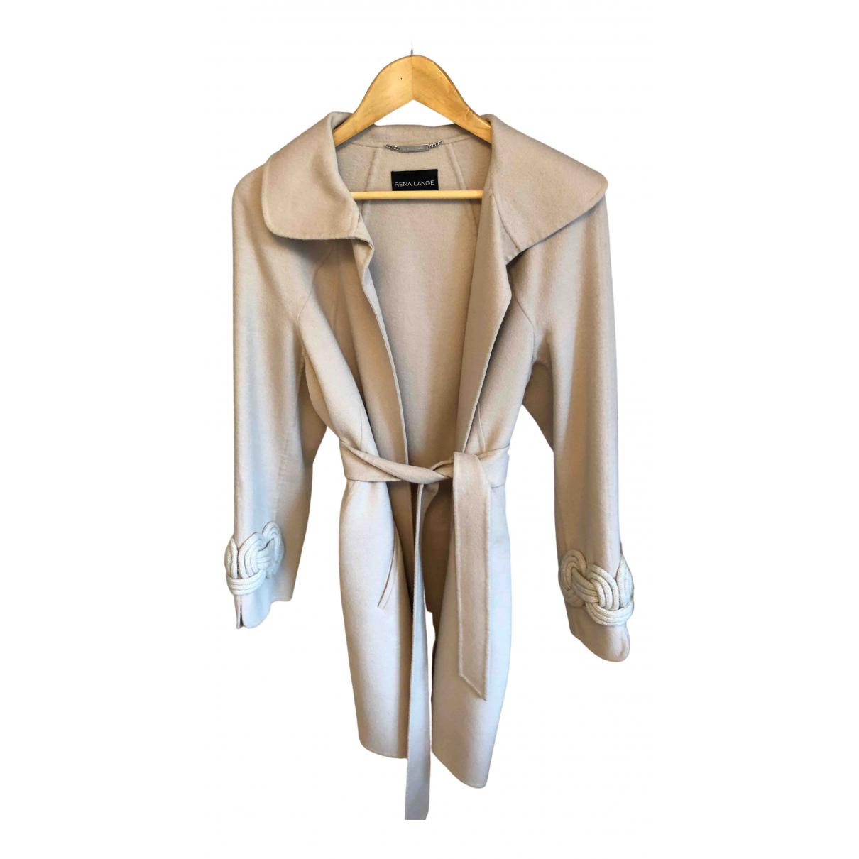 Rena Lange \N Beige Wool coat for Women 6 US