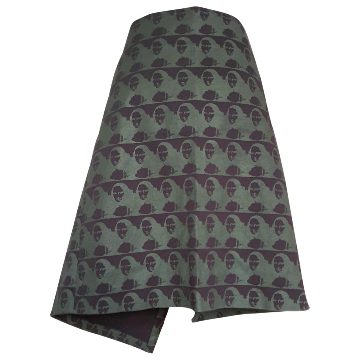 Non Signé / Unsigned \N Khaki Cotton - elasthane skirt for Women S International