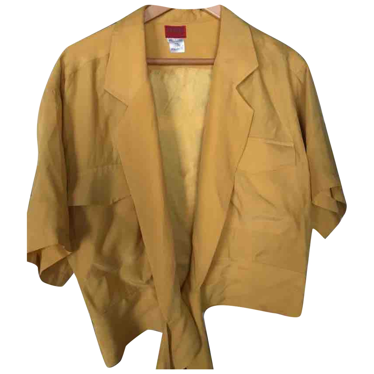 Kenzo \N Yellow Silk  top for Women 40 FR