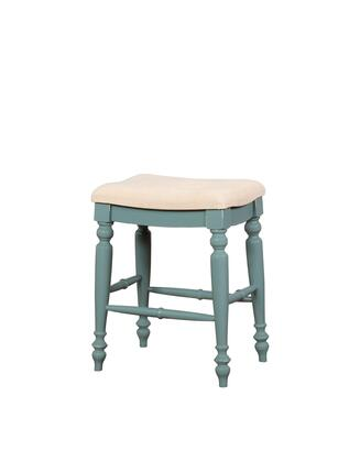 CS201BLUE01U Marino Collection Counter Height Stool with Solid Wood Frame and Polyester Upholstery in Blue