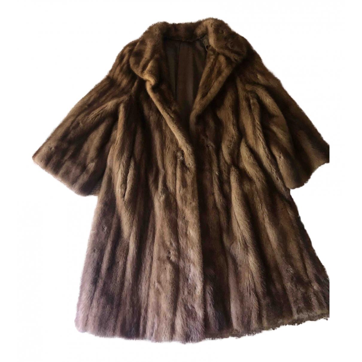 - Manteau Oversize pour femme en vison - beige