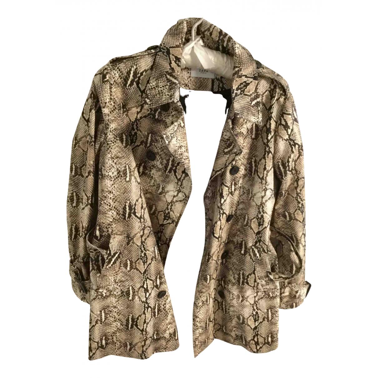 Zapa - Manteau   pour femme en coton - beige