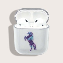 Horse Pattern Clear Airpods Case