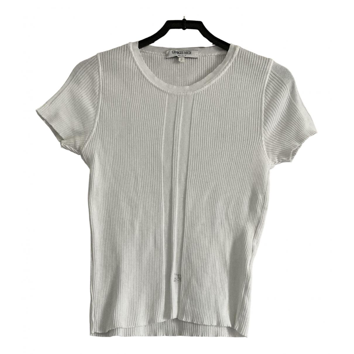 Georges Rech - Top   pour femme en coton - blanc