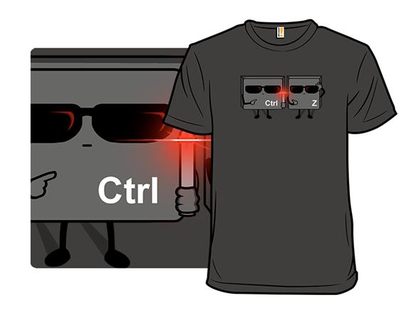 Ctrl+z In Black T Shirt
