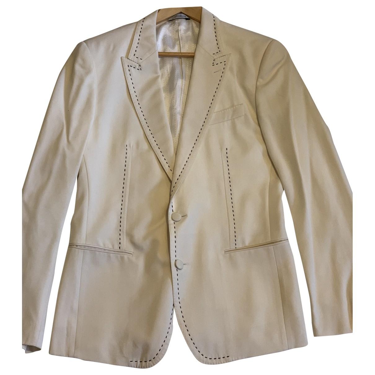 Dolce & Gabbana - Vestes.Blousons   pour homme en laine - blanc