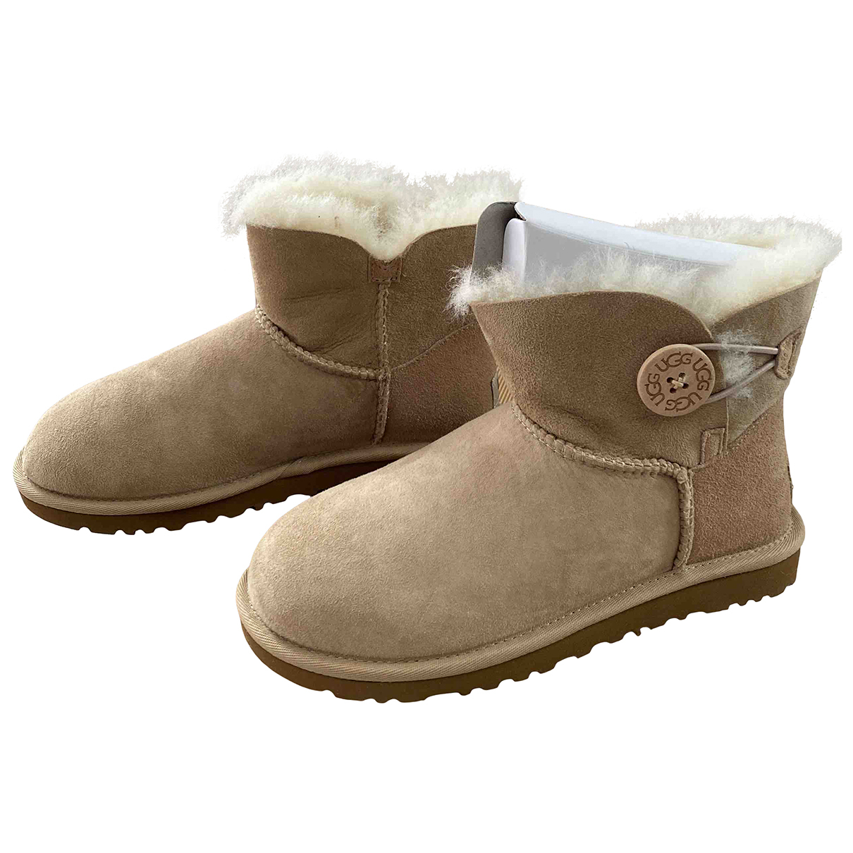 Ugg N Beige Suede Ankle boots for Women 36 EU
