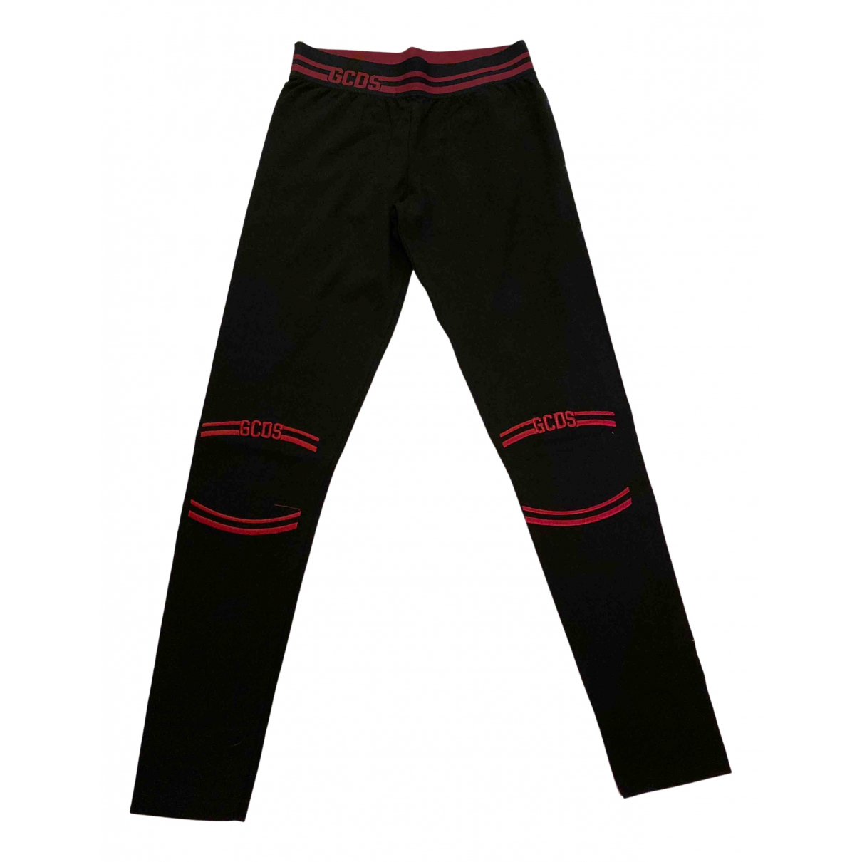 Gcds N Black Cotton Trousers for Women L International