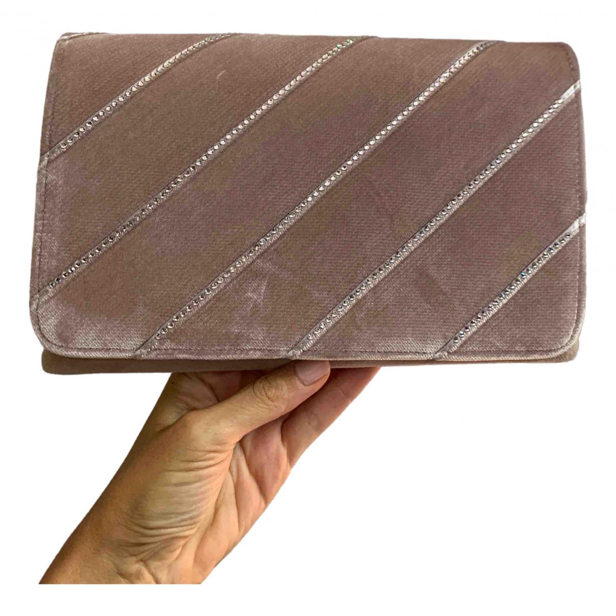 Casadei \N Pink Velvet Clutch bag for Women \N
