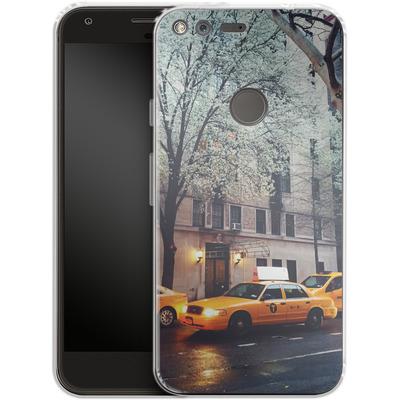 Google Pixel XL Silikon Handyhuelle - NYC Yellow Cabs von Omid Scheybani