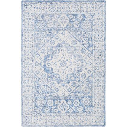 Serafina SRF-2018 4' x 6' Rectangle Traditional Rug in Pale Blue