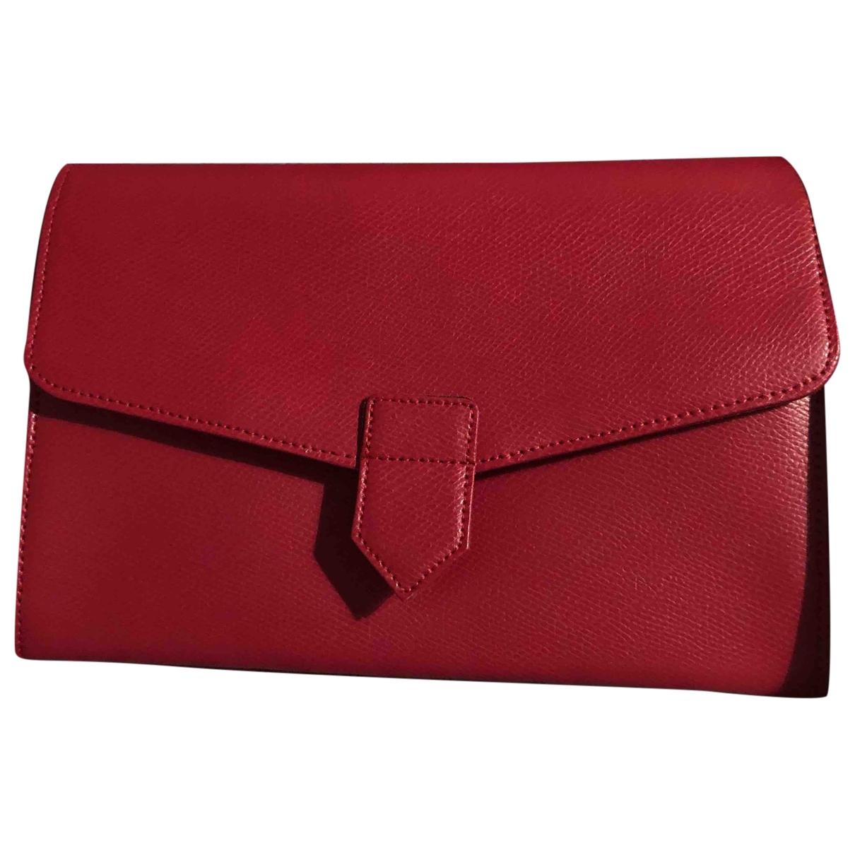 - Petite maroquinerie   pour femme en cuir - rouge
