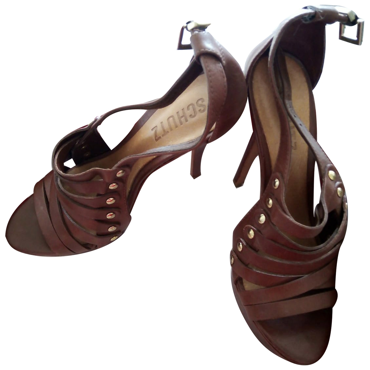 Schutz \N Brown Leather Sandals for Women 39 EU