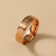 Ring mit Buchstaben Design