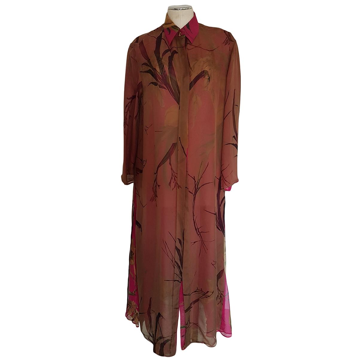 Maxi vestido de Seda Gianfranco Ferre