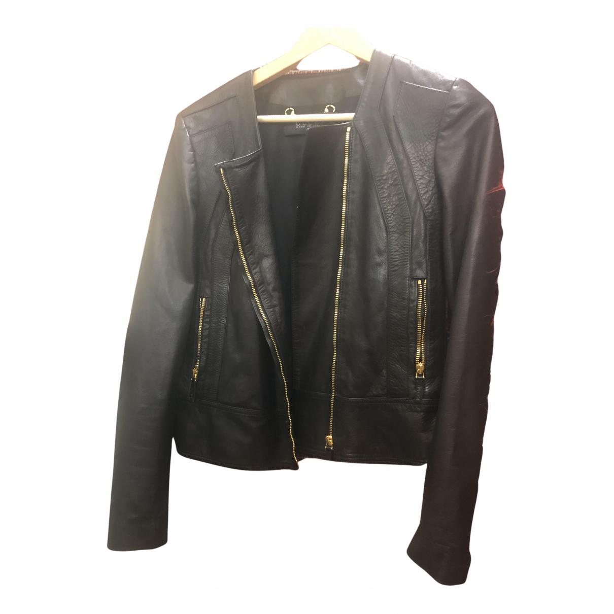 Gucci \N Jacke in  Schwarz Leder
