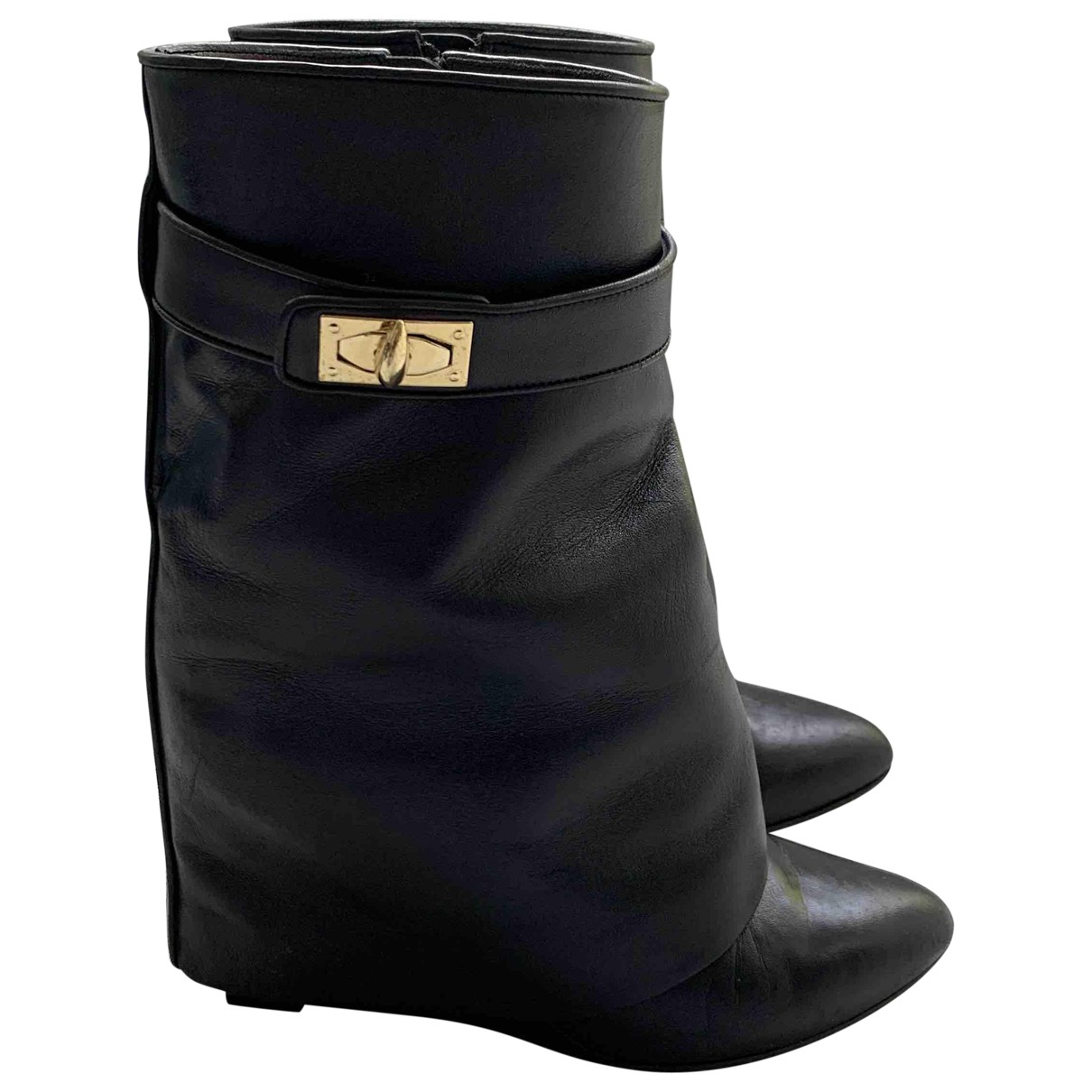 Givenchy Shark Black Leather Ankle boots for Women 39 EU