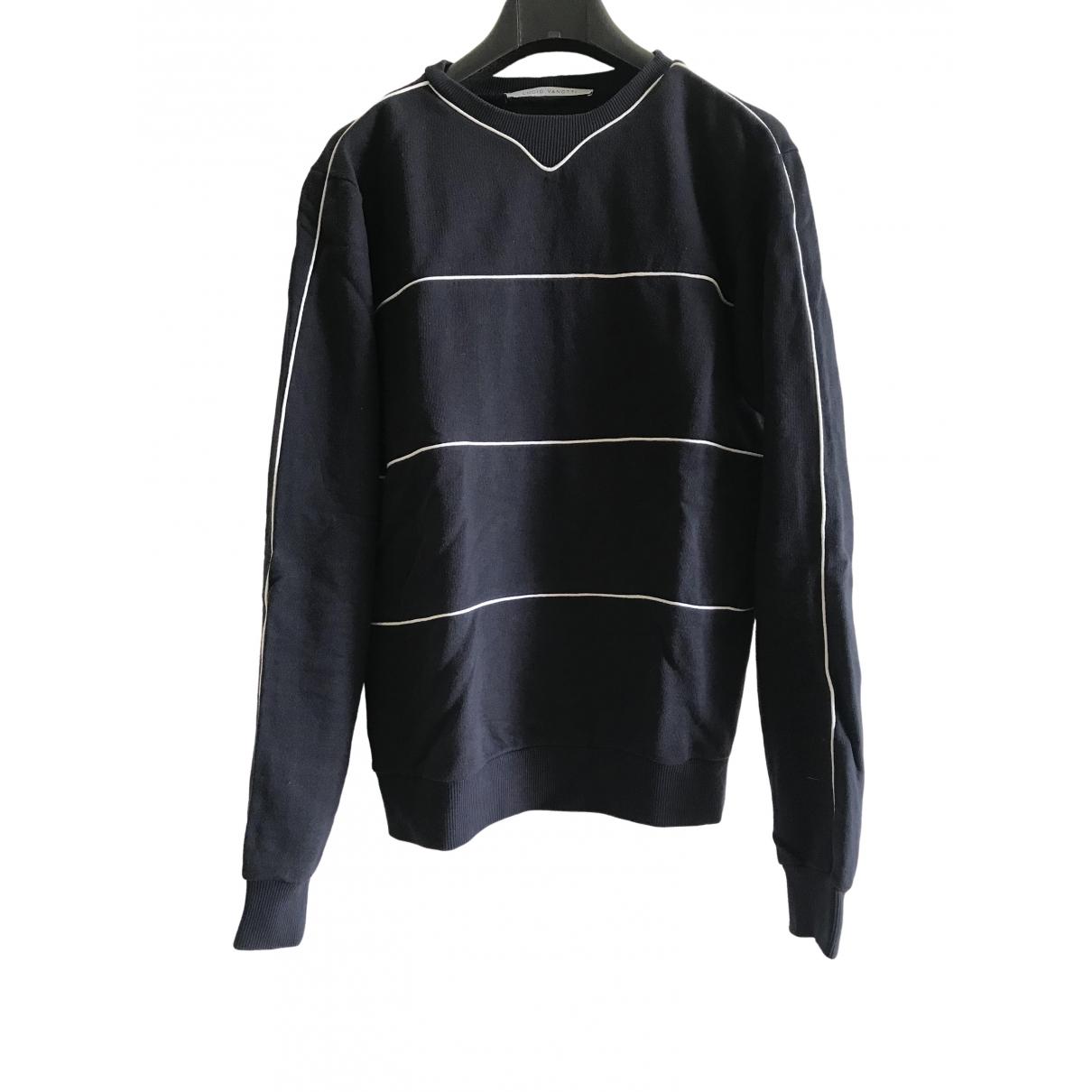 Non Signe / Unsigned \N Pullover.Westen.Sweatshirts  in  Blau Baumwolle