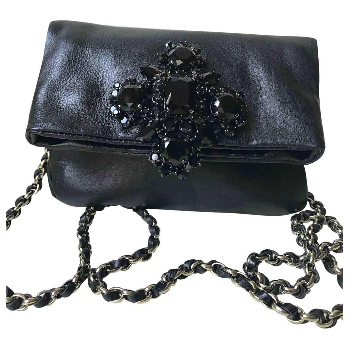 Juicy Couture - Pochette   pour femme en cuir - noir