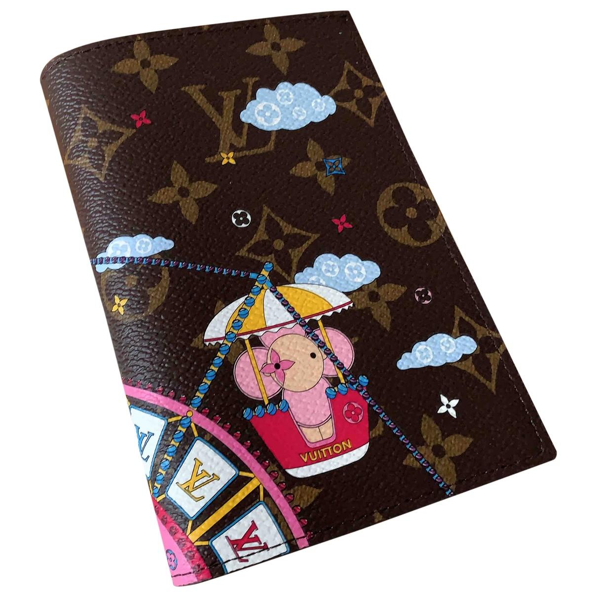 Louis Vuitton Passport cover Brown Cloth Purses, wallet & cases for Women N