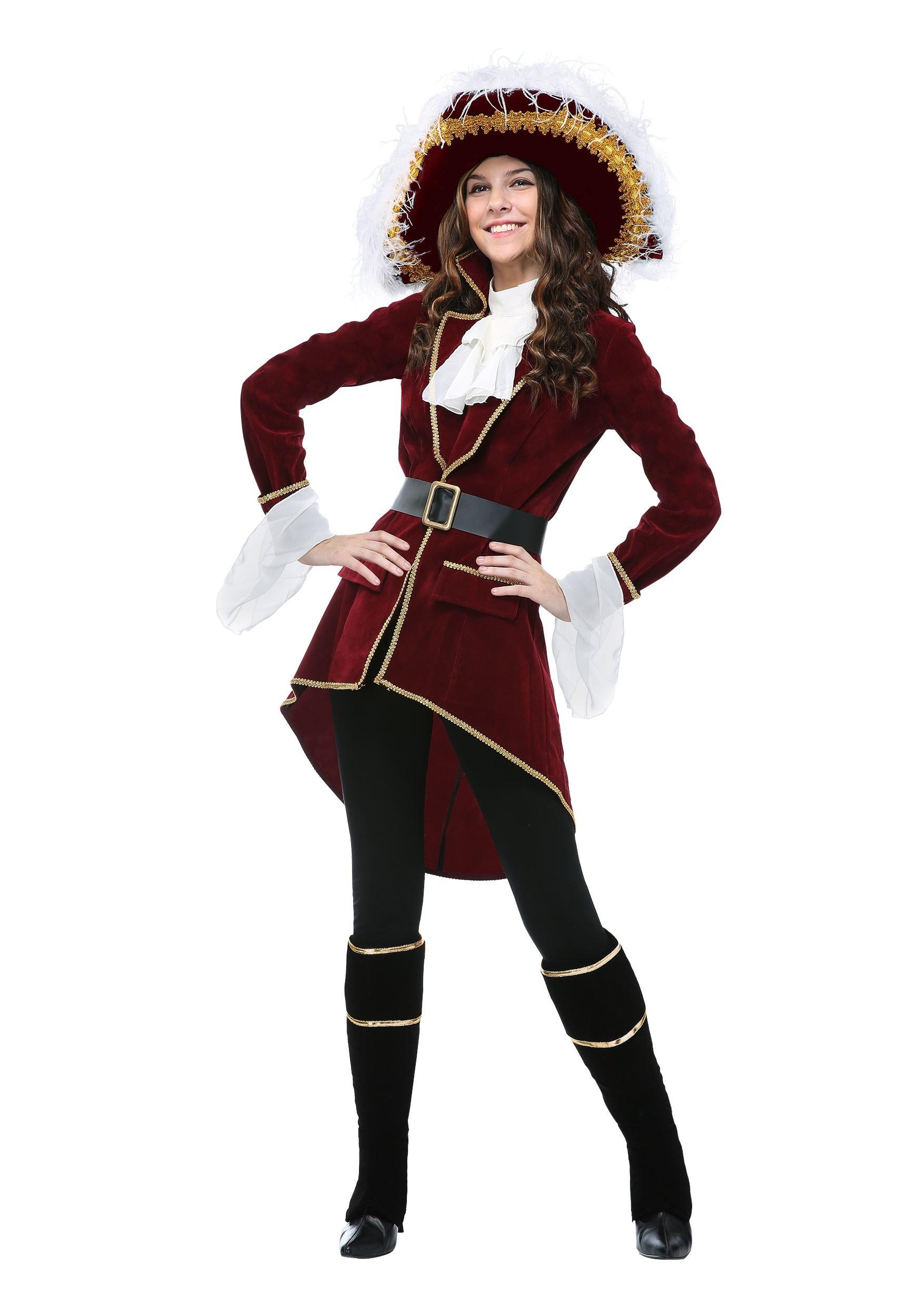 Captain Hook Womens Plus Size Costume