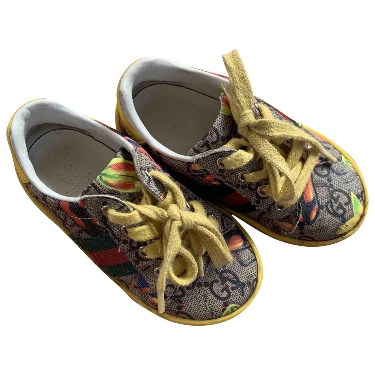 Gucci - Baskets   pour enfant en toile - jaune