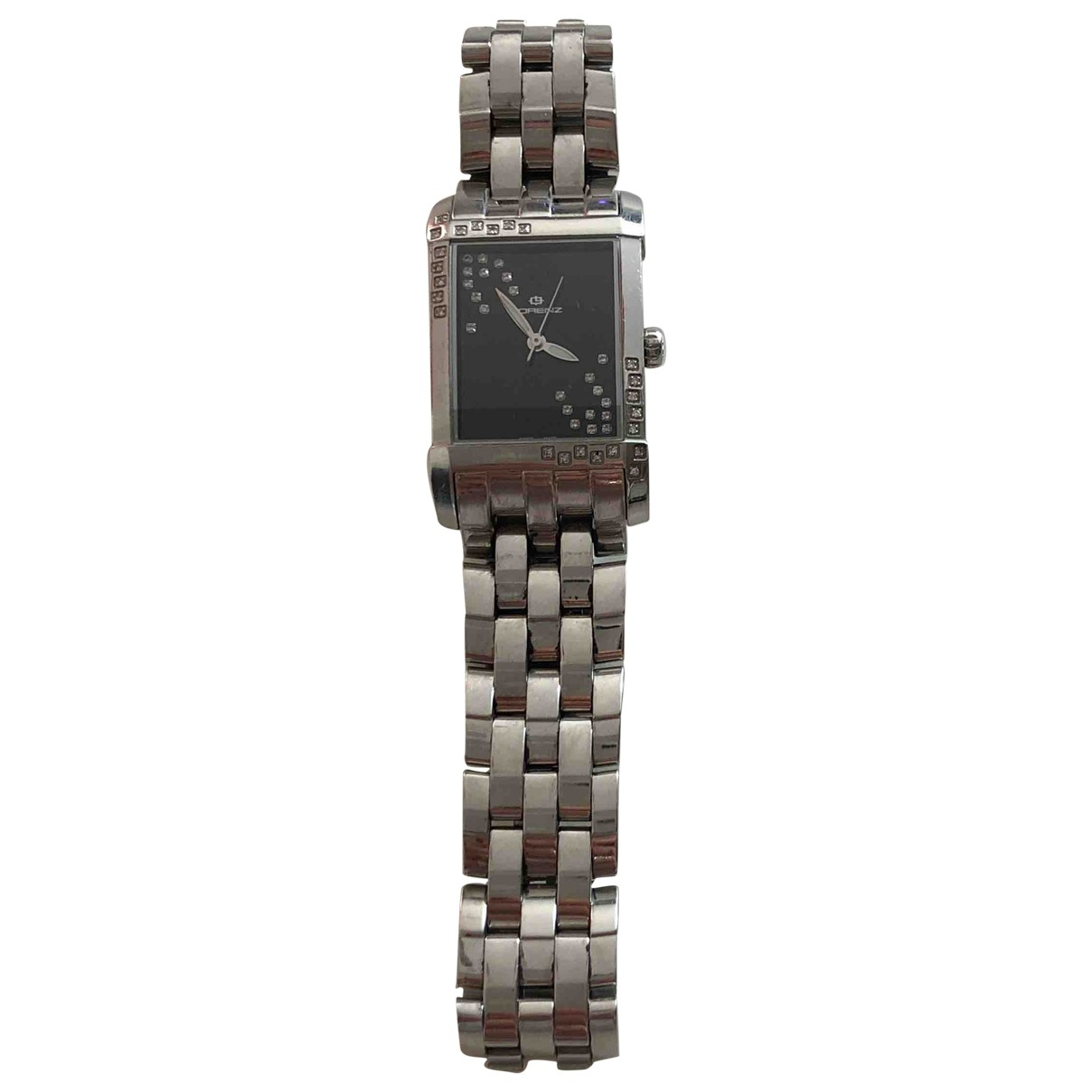 Non Signé / Unsigned \N Grey Steel watch for Women \N