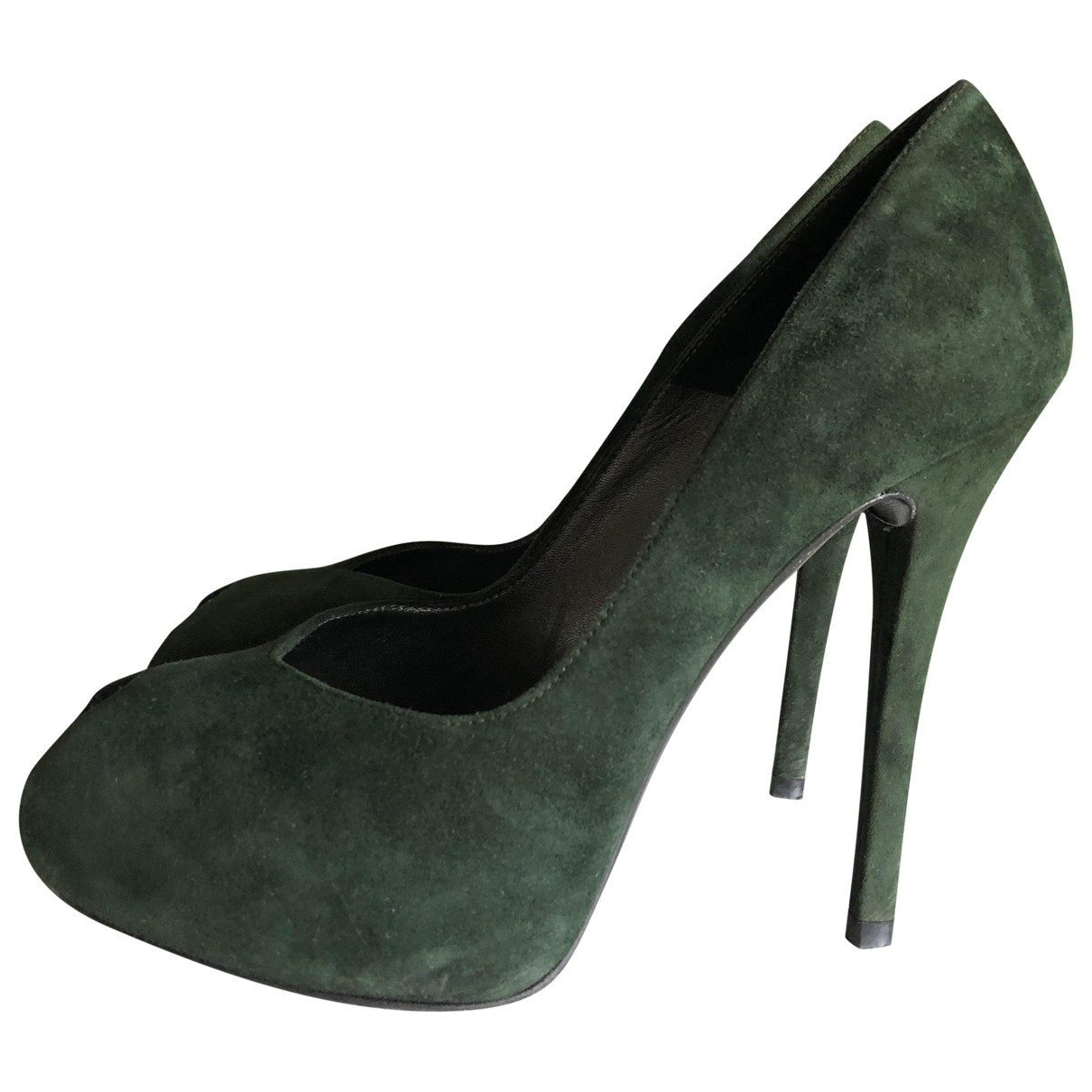 Stuart Weitzman \N Green Suede Heels for Women 36 EU