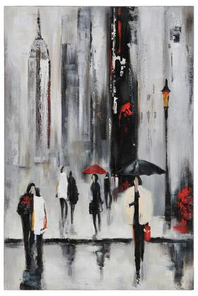 Bustling City I Collection OL590 Canvas by Dominic Lecavalier with Rectangle Shape and Vertical Hanging