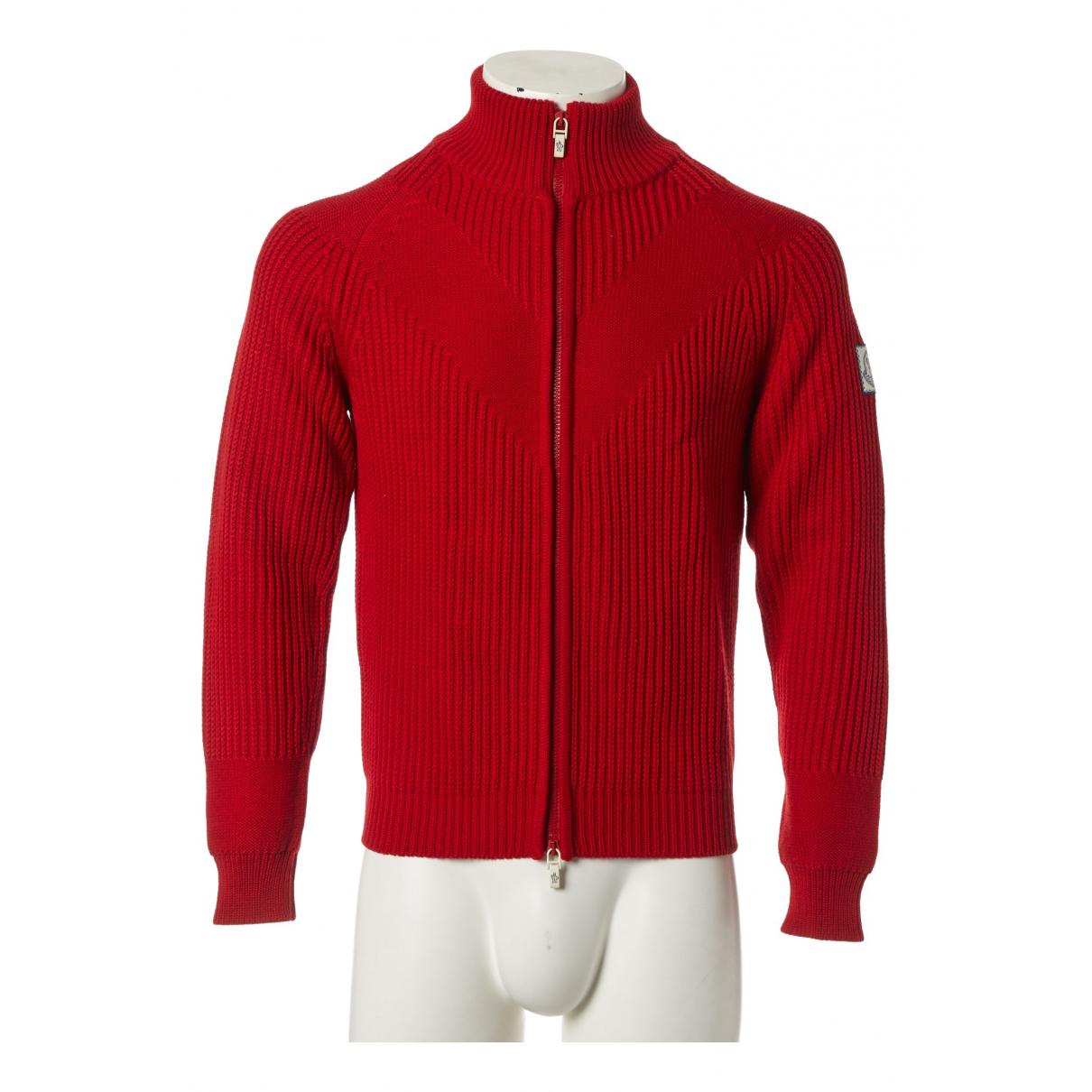 Moncler \N Pullover.Westen.Sweatshirts  in  Rot Wolle