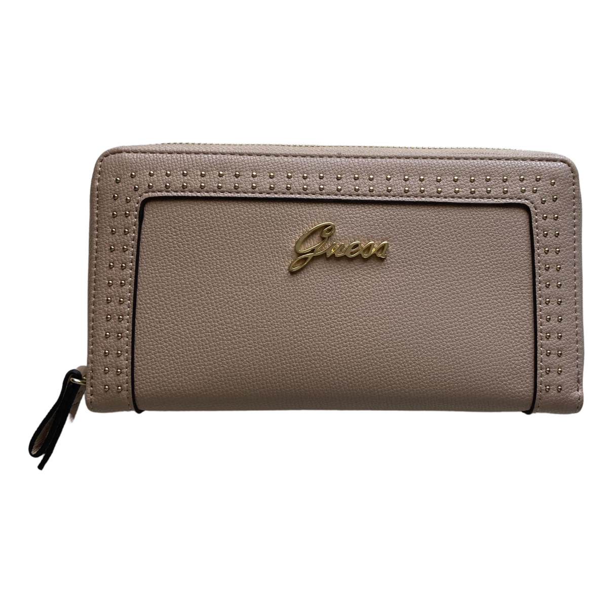 Guess \N Pink Leather wallet for Women \N