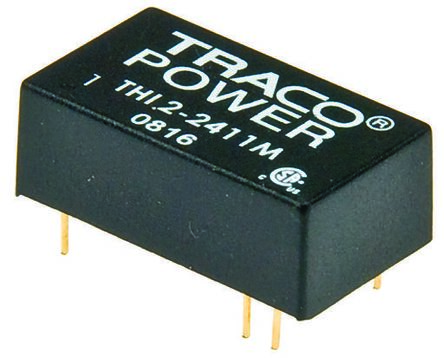 TRACOPOWER THI 2M 2W Isolated DC-DC Converter Through Hole, Voltage in 4.5 → 5.5 V dc, Voltage out ±15V dc