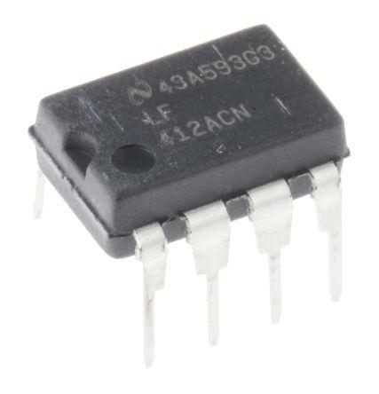 Texas Instruments LF412ACN/NOPB , Op Amp, 4MHz, 8-Pin MDIP
