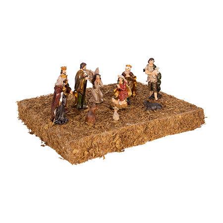 Kurt Adler 3.25-Inch 11-Pc. Resin Nativity Christmas Figurine, One Size , Multiple Colors