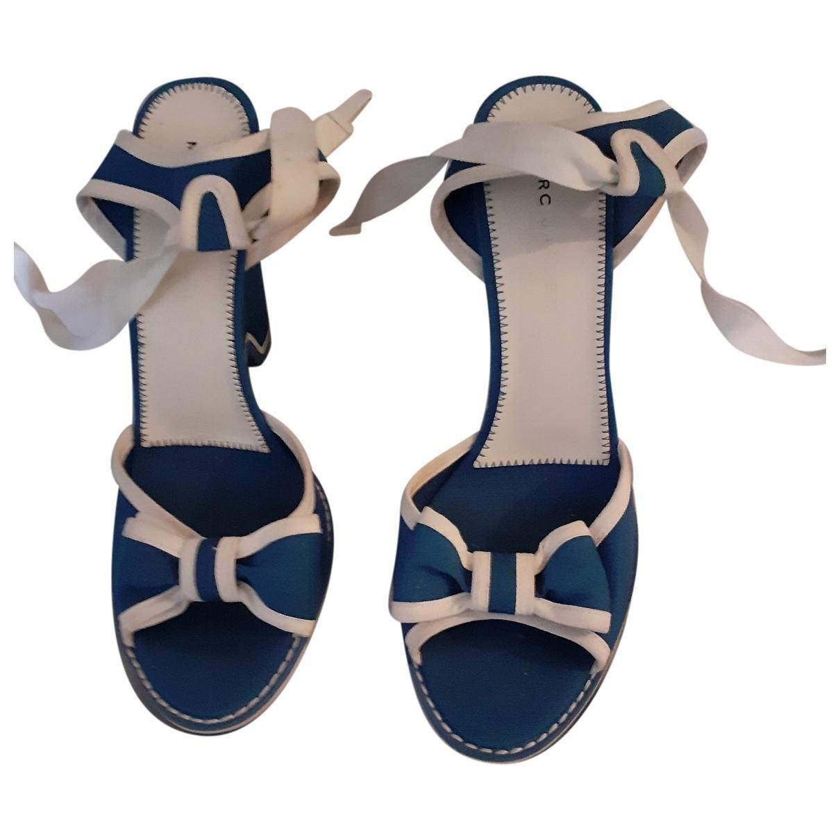 Marc Jacobs - Sandales   pour femme en toile - bleu