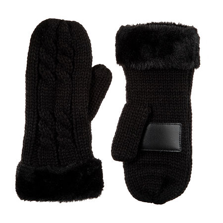 Isotoner Cold Weather Gloves, One Size , Black