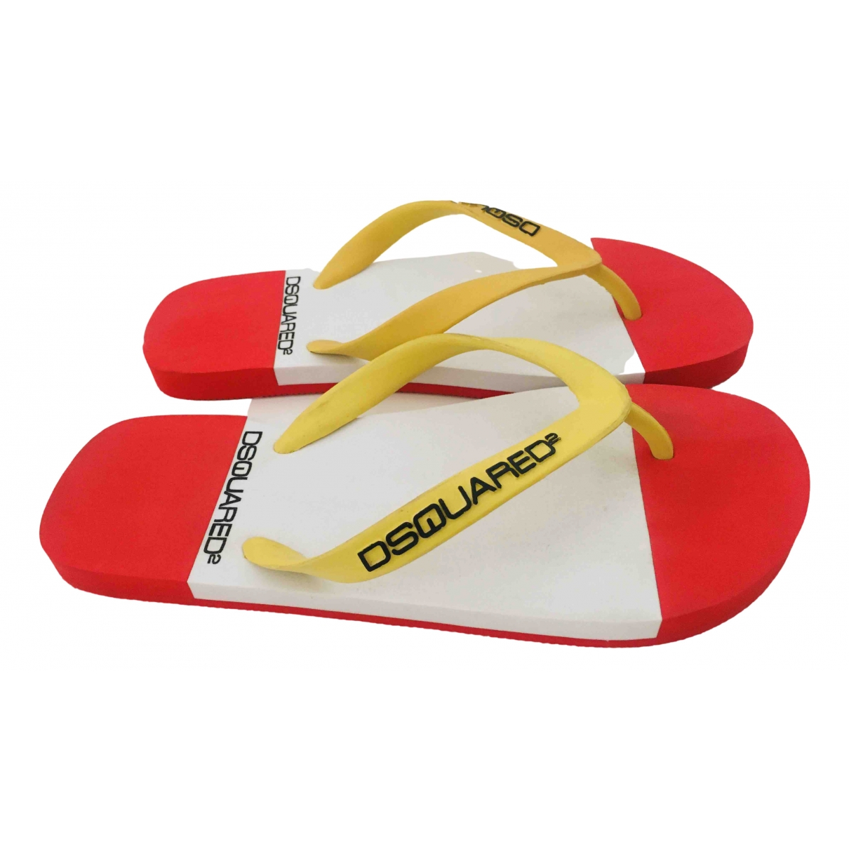 Dsquared2 \N Red Rubber Sandals for Women 37 IT