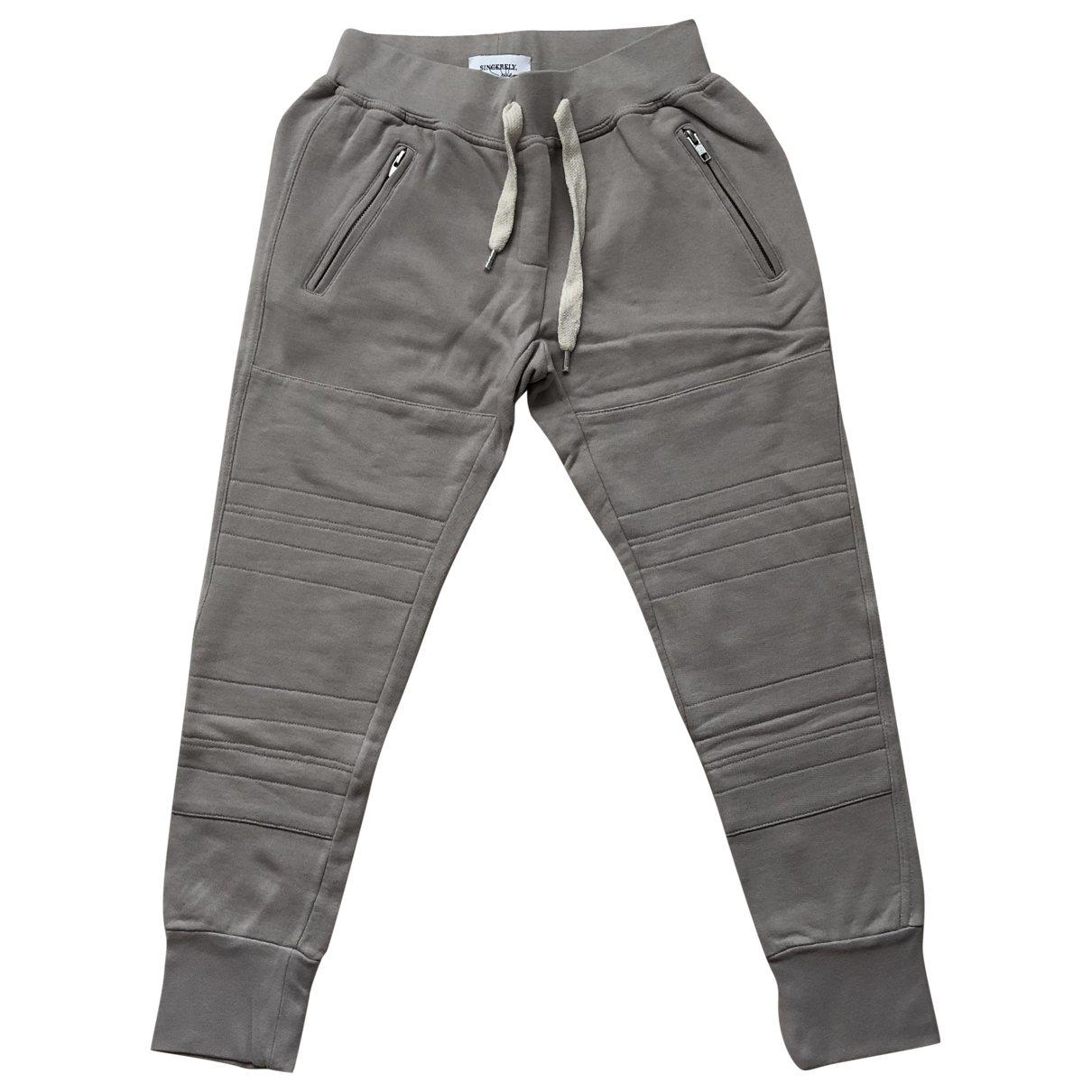 Pantalon en Algodon Beige Sincerely Jules