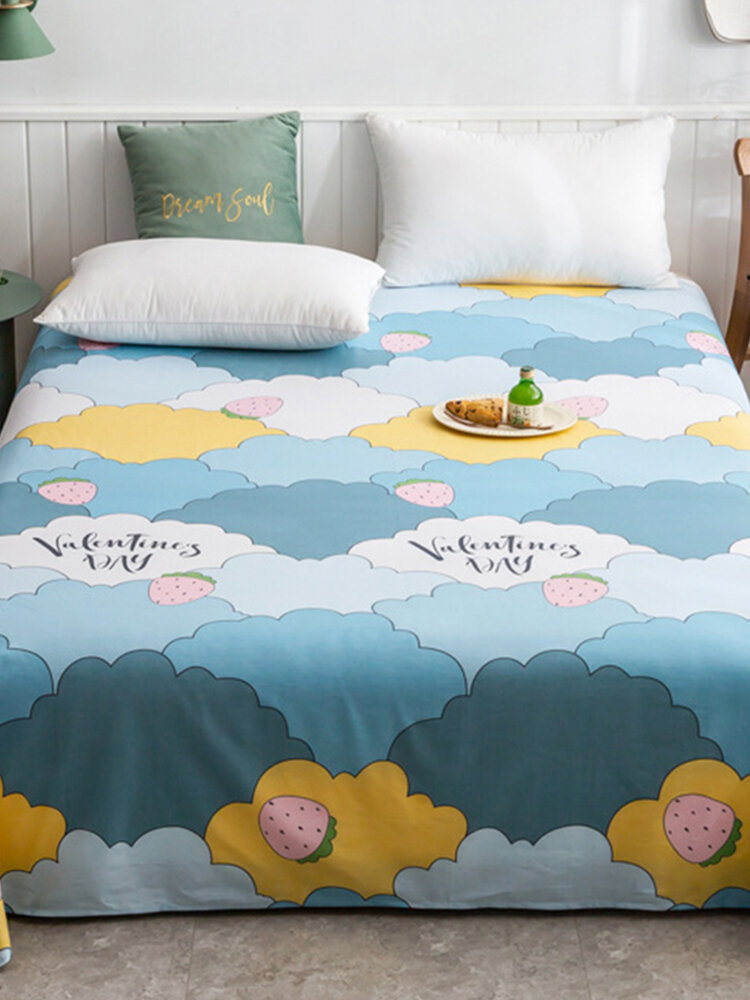 Small Fresh Pure Cotton Clouds Print Bedroom Single Sheets
