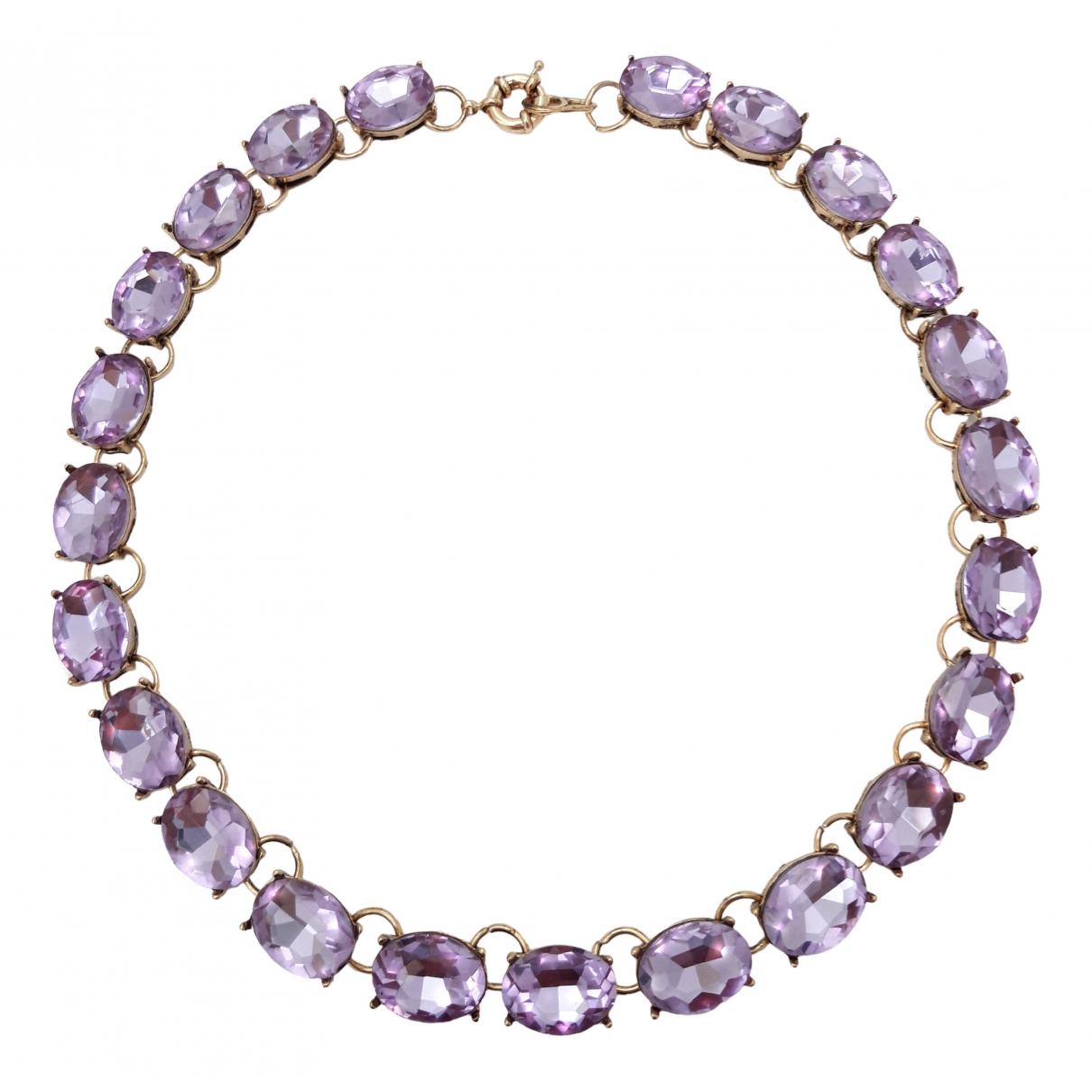 - Collier Art Deco pour femme en cristal - turquoise