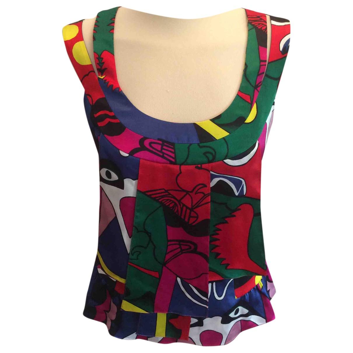 Kenzo - Top   pour femme en soie - multicolore