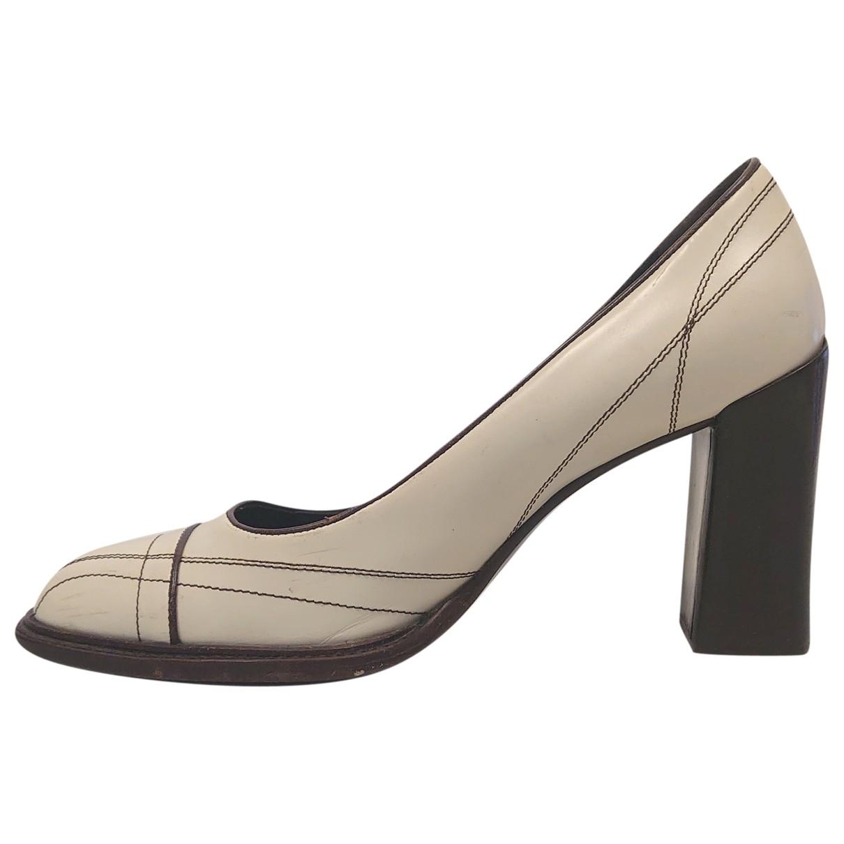 Prada \N Leather Heels for Women 35.5 IT