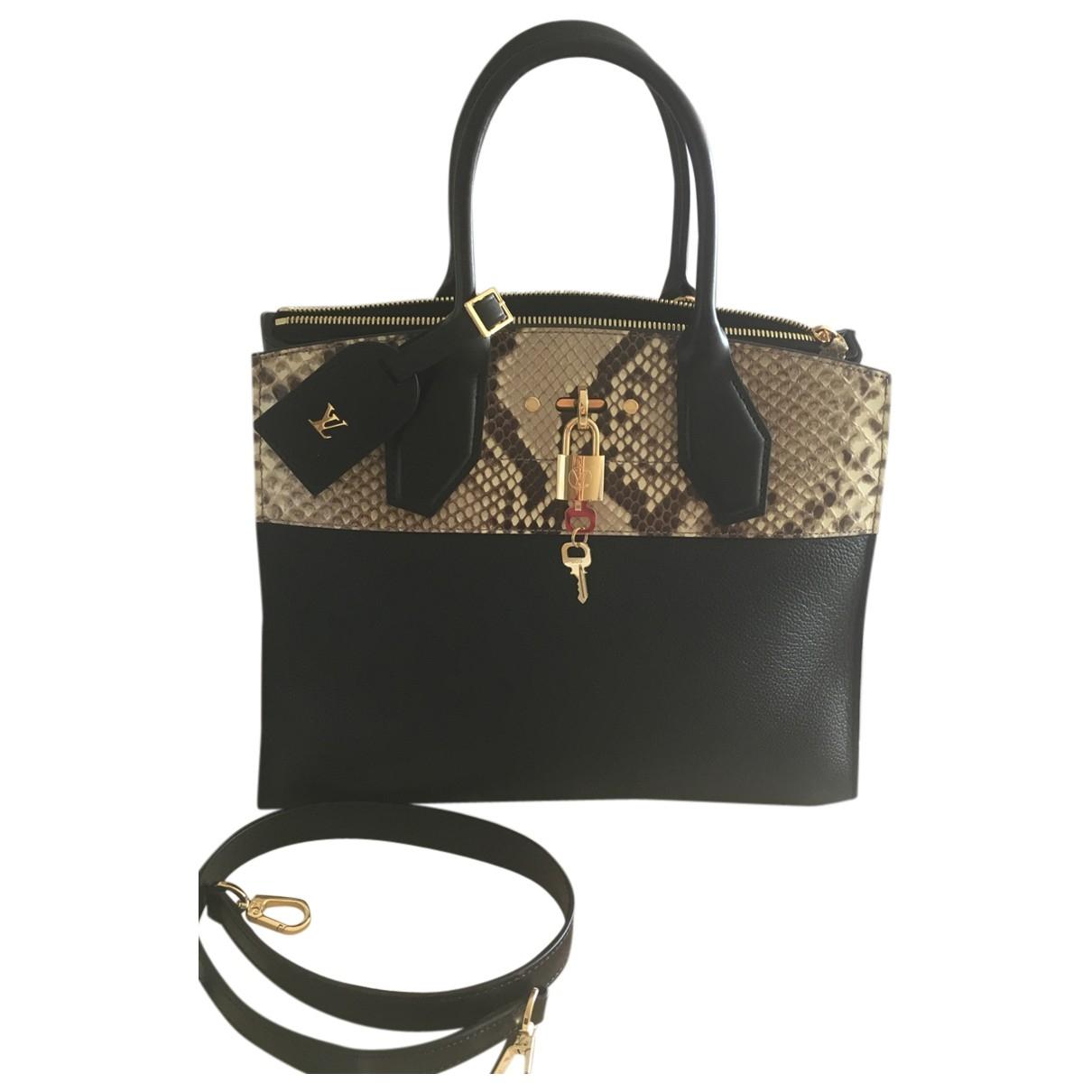 Louis Vuitton - Sac a main City Steamer pour femme en cuir - noir