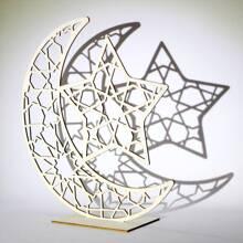 Objeto decorativo de diseño de luna y estrella